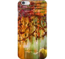 PRISMACOLOR PEARLS 2 Colorful Watercolor Abstract Painting Marsala Red Orange Rust Olive Green Ocean Waves Fine Art iPhone Case/Skin