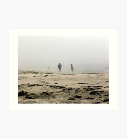 The Fog Rolls in at Tor Bay Art Print