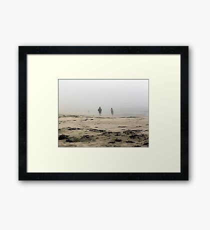 The Fog Rolls in at Tor Bay Framed Print