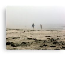 The Fog Rolls in at Tor Bay Canvas Print