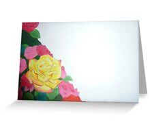 yellow rose with red tips Greeting Card