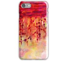 PRISMACOLOR PEARLS 3 Colorful Watercolor Abstract Painting Marsala Red Hot Pink Chic Pastel Fine Art iPhone Case/Skin