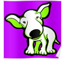 EBT Puppy White and Lime  Poster