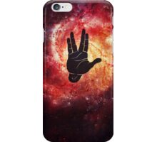 Spocks Hand Galaxy iPhone Case/Skin