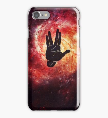 Spocks Hand Galaxy iPhone Case/Skin