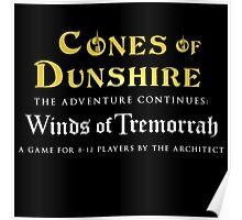 Cones of Dunshire sequel, Winds of Tremorrah. Poster
