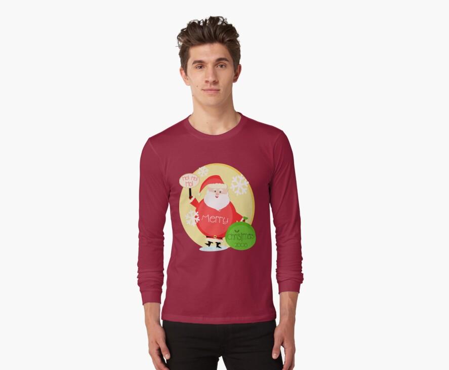 Santa Greeting T-Shirt by Jamie Wogan Edwards