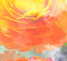 Painterly flowers in vivid summer colors Sticker