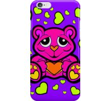 Love Teddy Bear Pink and Lime Green  iPhone Case/Skin