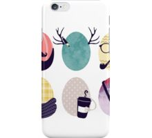 Hipster decorated Easter eggs iPhone Case/Skin