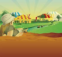 Peats Ridge Music Festival illustration by Lara Allport