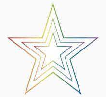 rainbow star One Piece - Short Sleeve