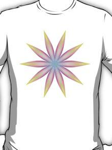 Rainbow Flame Flower Pattern Kaleidoscope 04 T-Shirt