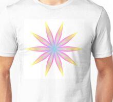 Rainbow Flame Flower Pattern Kaleidoscope 04 Unisex T-Shirt