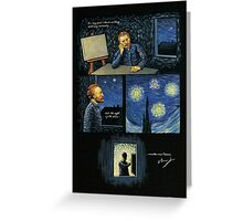 Van Gogh quote: The sight of the stars Greeting Card