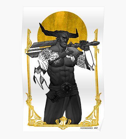 Horns Up Poster