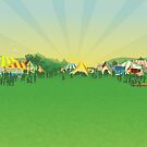 Peats Ridge Festival flier graphics by Lara Allport