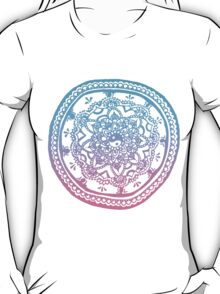 Pink and Blue Ombre Design T-Shirt