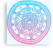 Pink and Blue Ombre Design Canvas Print