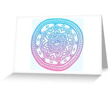 Pink and Blue Ombre Design Greeting Card