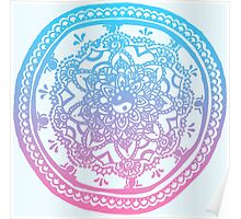 Pink and Blue Ombre Design Poster