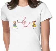 Musical Valentine Boy and Girl Womens Fitted T-Shirt