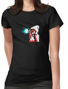 8 Bit White Mage Womens Fitted T-Shirt