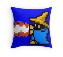 8 Bit Black Mage Throw Pillow