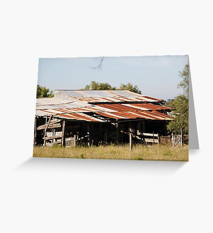 farmscapes #54, farm shed Greeting Card