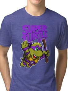Super Turtle Bros - Donnie Tri-blend T-Shirt