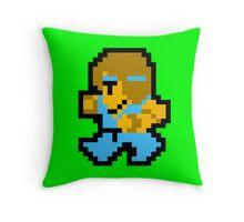 8 Bit Monk Throw Pillow