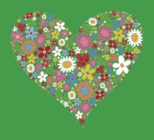Spring Flowers Valentine Heart Kids Clothes