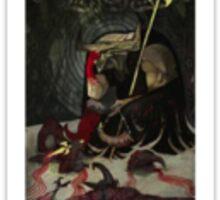 Dragon Age Inquisition Iron Bull Tarot card 3 Sticker
