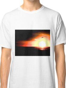 Bird Flying Across Sunrise Classic T-Shirt