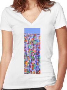 Blue skies Women's Fitted V-Neck T-Shirt