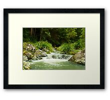 Where the waters flow Framed Print
