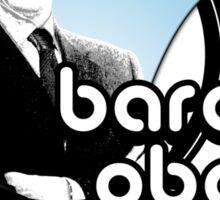 barack obama : retro o's Sticker