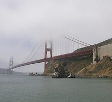 Golden Gate Bridge from the Sausalito Side by becSamways