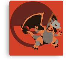 Armored Charizard (Pokemon) - Sunset Shores Canvas Print