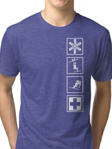 up and down I Tri-blend T-Shirt