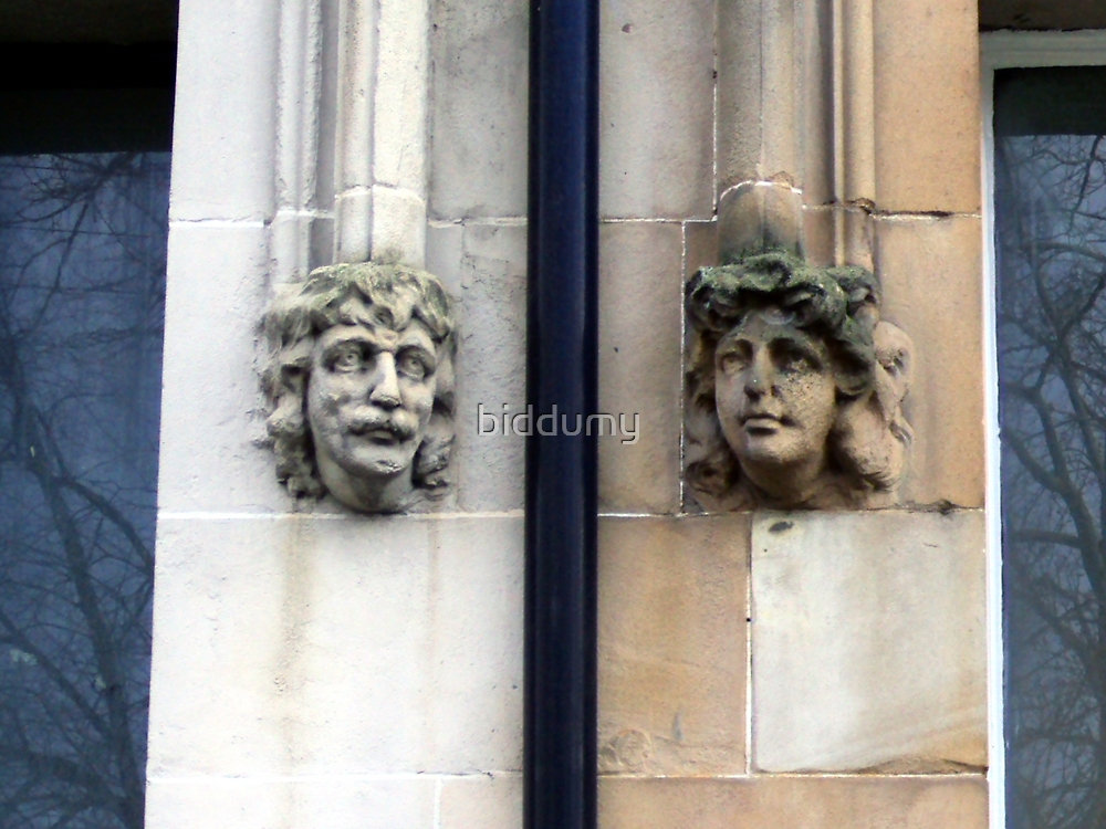 Stone faces by biddumy