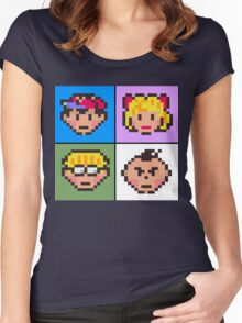 Earthbound squared Women's Fitted Scoop T-Shirt