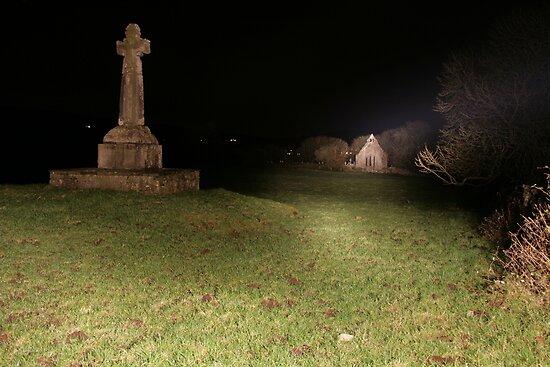 Dysert O'Dea at night by John Quinn