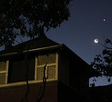 Jupiter, Venus and the Moon by The9thGoblin