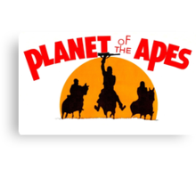 Planet of the Apes Retro Canvas Print