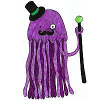 Mr Stinger the Gentleman Jellyfish in pink Photographic Print