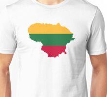 Lithuania map flag Unisex T-Shirt