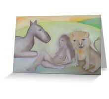 Carols Lion Greeting Card