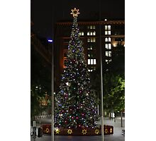 Xmas in Martin Place, Sydney. Photographic Print
