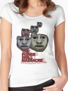 Power Drill Massacre (psychedelic) Women's Fitted Scoop T-Shirt